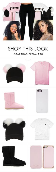 """""""Rockin' with da bestie #2"""" by justsamadhi ❤ liked on Polyvore featuring Charlotte Simone, UGG Australia, LuMee, Ralph Lauren and Ted Baker"""