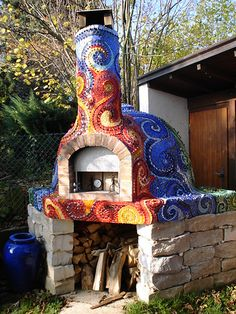 mosaic pizza oven, via Flickr.
