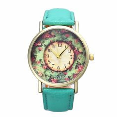 2016 New Floral Printed Women Watches Leather Analog Quartz Dial Wrist Watch Men Casual Girl Dress Reloj Mujer Relojes Hombre #>=#>=#>=#>=#> Click on the pin to check out discount price, color, size, shipping, etc. Save and like it!