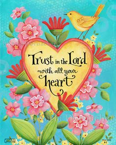 Trust in the Lord - 8x10 Art Print Scripture Christian Bible Verse Inspirational