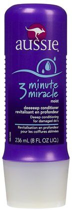 Aussie 3 minute miracle is a deep conditioning treatment for hair. let it set in while you are shaving your legs.