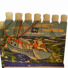 7pcs Vintage 40s FISHERMEN FIGURAL MATCHES by cOveTableCuriOsitiEs, $8.00