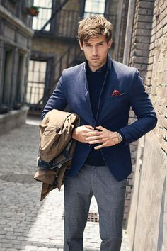 Men's Fashion | Menswear | Layers | Men's Outfit for the Office | Fall/Winter Look | Moda Masculina | Shop at designerclothingfans.com