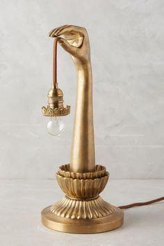 Lightbearer Golden Hand Table Lamp. Vintage Art Deco inspired Design. Available here: http://rstyle.me/n/cffeiibcukx