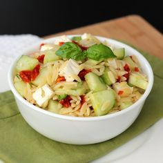 A great six ingredient, fresh and light lemon orzo pasta salad. You might even already have the ingredients on hand.