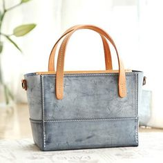 Handmade Womens Leather Handbag Tote Purse Tote Cute Shopper Side Tote Bag for Men Satchel Handbags, Leather Handbags, Leather Totes, Tote Purse, Crossbody Bag, Small Tote Bags, Handmade Handbags, Green Leather, Purses And Bags