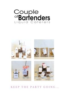 These Infused Cocktail Kit wedding favors are sure to make your special night one to remember.  Order yours at favors@coupleofbartenders.com