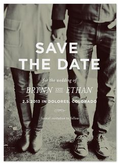 lovely save the date. simple, classic, and black & white ~ memento by annie clark This is perfect.