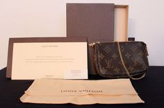 Louis Vuitton Mini Pochette w/ Original Packaging #LouisVuitton #Wallet