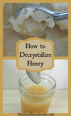>> Learn how to decrystallize honey |  It isn't uncommon for uncooked honey to crystallize, or...