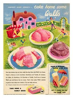 Walls Ice Cream, Happy Family, 1950s: Walls Ice Cream, Happy Family, 1950s