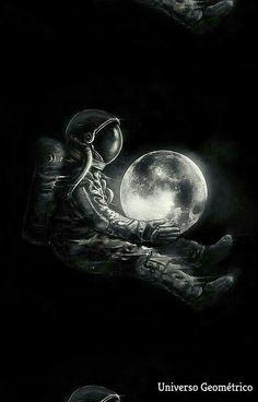 'Moon Play' Poster by nicebleed Space Drawings, Space Artwork, Wallpaper Space, Dark Wallpaper, Galaxy Wallpaper, Wallpaper Backgrounds, Wallpapers, Foto Fantasy, Play Poster