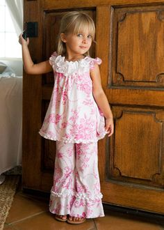 Layla Grayce pink ruffled outfit  Also could use pattern for pajamas!