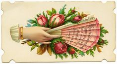 victorian cards | FREE Digital Image ~ Victorian Calling Card Pink Fan | Old Design Shop ...