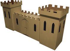 cardboard castle Cardboard Dollhouse, Cardboard Castle, Cardboard Playhouse, Cardboard Toys, Castle Playhouse, Castle Project, Kids Castle, Water Bombs, Kids Play Spaces