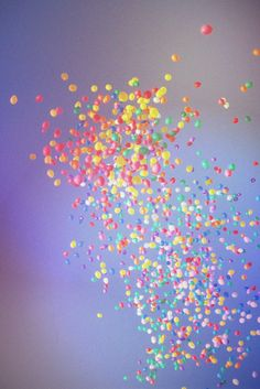 Bright Balloons. We love a bit of colour...