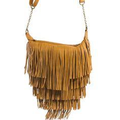 Olivia Fringe Satchel in camel | Discount Handbags & Purses | Handbag Heaven