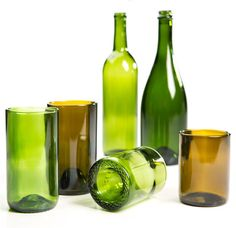 recycled wine bottle drinking glasses