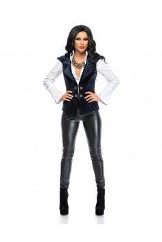 Jacheta 15804 Passion For Fashion, Leather Pants, Product Description, Unique, How To Make, Shopping, Vest, Blouses, Leather Jogger Pants
