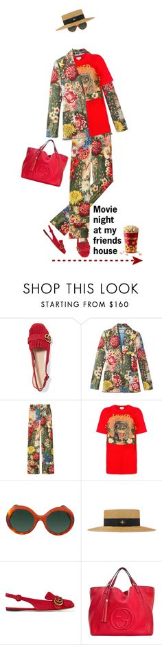 """""""Movie Night @ My Friend's House!"""" by shoaleh-nia ❤ liked on Polyvore featuring Gucci"""