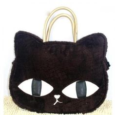 This bag is of good quality and nice design, the cat head is very cute, the plush is full of this bag, it is just can be a handbag, it doesn't have long shoulder strap. Crazy Cat Lady, Crazy Cats, Cat Wallet, Cat Bag, Pandora Bracelet Charms, Black Handbags, Shoulder Handbags, Messenger Bag, Plush