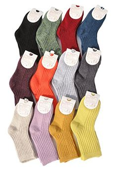 Lovely Annie Boys 5 Pairs Pack Cashmere Wool Crew Socks Plain Size 2225CM10Y and Up *** Find out more about the great product at the image link.