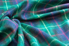 Fabcrafts : Warm Fleece fabric Scottish Tartan Blackwatch BURNS NIGHT table - £5.50