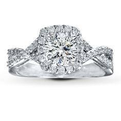 The Dream Ring Neil Lane Wedding Setting 1 2 Ct Tw Diamonds 14k White Gold Item 56197620099 When I Say Do Pinterest