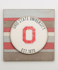 Another great find on #zulily! Ohio State Buckeyes Vintage-Inspired  Wall Sign #zulilyfinds