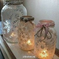 I plan to buy a vase at the Dollar Tree and decopage with paper lace doilies!