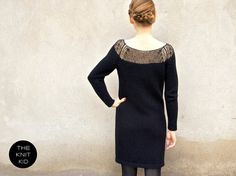 knitted dress bulky mohair merino silk black the by theknitkid, €239.90