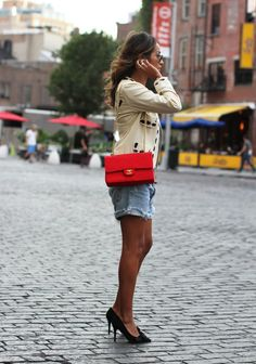 Throwback to NYC summer. Jacket: Vintage Moschino Tee: http://rstyle.me/~45a51 Shoes: http://rstyle.me/~459RN