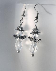Earrings angels in svarowski glas and by Lisbethstafnedesigns