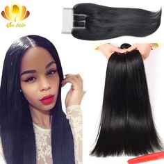 Peerless Peruvian Virgin Hair Straight with Closure 3pcs Peruvian Virgin Hair with Closure,Rosa Hair Products with Lace Closure * Find out more about the great product at the image link.