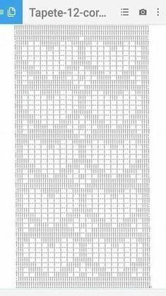 Diy Crafts - Diy Crafts - -Crochet Scarf Chart Table Runners 68 New Ideas crochet Crochet Diagram, Crochet Motif, Crochet Doilies, Crochet Stitches Patterns, Doily Patterns, Diy Crafts Crochet, Crochet Ideas, Crochet Carpet, Fillet Crochet