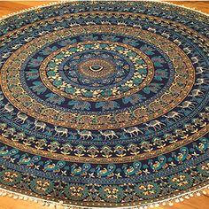 The Chennai Roundie Mandala with Pom-Poms