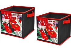 Disney Cars 2 Storage Cubes Set Of 2 10in