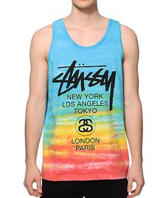 Learn about the world you live in with the Stussy Tie Dye World Tour black  t-shirt and tweak your style from all corners of the worlu2026