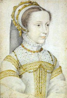 Mary Queen of Scots' aged about 12. This portrait, by Francois Clouet c1555, is thought to be the earliest image of her.