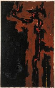 Clyfford Still support: 1947-G support: 63 1/4 x 39 1/4 inches. Albright-Knox Art Gallery