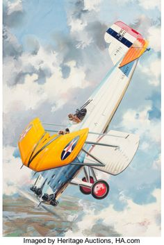 JO KOTULA (American, Curtis Helldiver, Model Airplane News magazine cover, January 1954 Gouache and - Available at 2013 Apr 11 - 12 Beverly Hills. Airplane History, Airplane News, Airplane Art, Fighter Aircraft, Fighter Jets, Air Fighter, Vintage Airplanes, Vintage Design, Vintage Ideas
