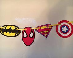 Bandera de super héroe