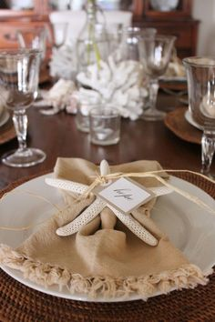 coastal tablescapes13 Coastal Style Table Decoration
