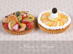 Fresh fruit tart & Grapefruit tart - Nunu's House