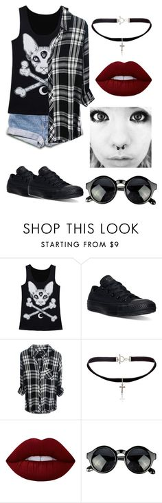 """Untitled #221"" by from-mina-with-love ❤ liked on Polyvore featuring Converse, Yves Saint Laurent and Lime Crime"