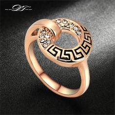 Double Fair CZ Diamond Rings Rose Gold Plated/Silver Tone Cubic Zirconia Ring Fashion Anniversary Jewelry For Women DFR221     Tag a friend who would love this!     FREE Shipping Worldwide     Get it here ---> http://jewelry-steals.com/products/double-fair-cz-diamond-rings-rose-gold-platedsilver-tone-cubic-zirconia-ring-fashion-anniversary-jewelry-for-women-dfr221/    #hoop_earrings