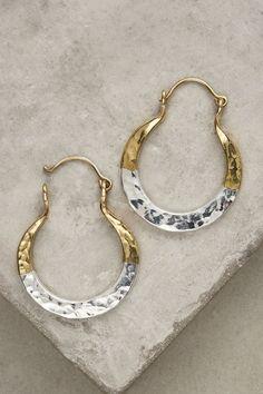 Anthropologie Mini Horseshoe Hoop Earrings