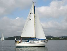 A westerly Centaur cruising sailboat, designed by Laurent Giles and built in the UK by Westerly Marine Ltd.