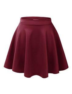 Womens Basic Versatile Stretchy Flared Skater Skirt Made By Johnny http://www.amazon.com/dp/B00KIZFGZ6/ref=cm_sw_r_pi_dp_y6vrub0MA59V2
