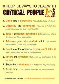 How To Create More Meaningful Relationships Manifesto - Dealing with Critical People